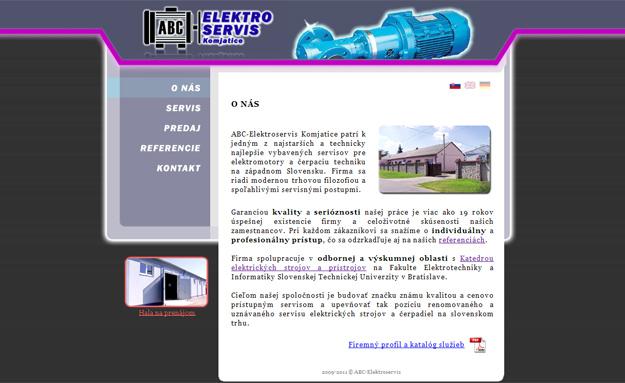 Webstránka servisu pre elektrické stroje