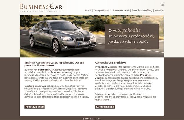 Webstránka - požičovňa áut