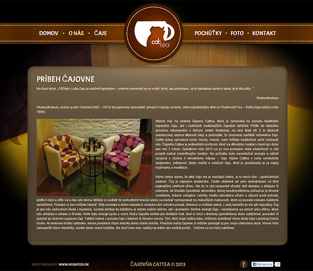 Website - tea house and caffeteria Cattea
