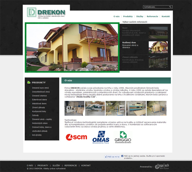 Corporate website - manufacturer of wooden windows and doors