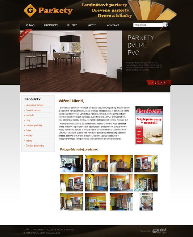 Website für einen Parkett- und Bodenbelag-Shop