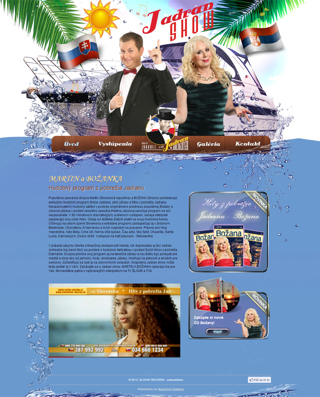 Webstránky pre spevákov