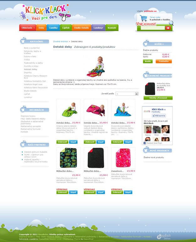 E-Shop – Kleidung und Accessoires für Kinder