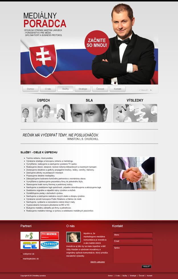 Webstránka mediálny poradca