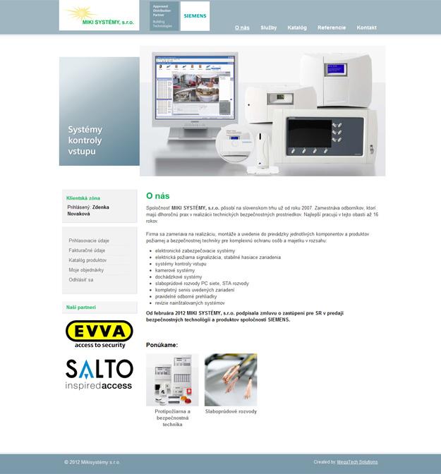 Web portál - objednávkový systém
