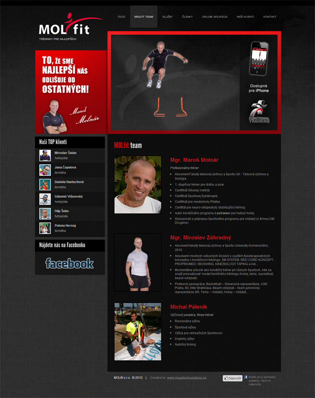 Website of a condition trainer