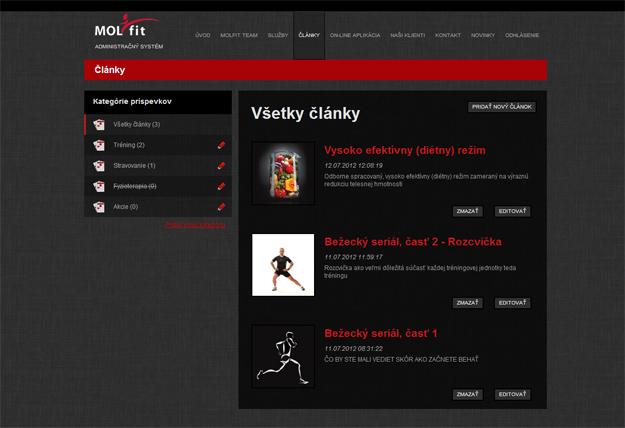 Webstránka - profesionálny kondičný tréner
