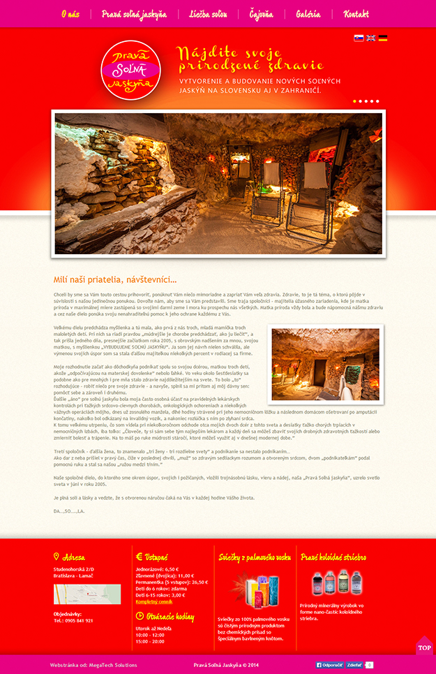 Website of Genuine Salt Cave