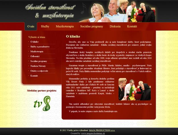 Webstránka sociálna starostlivosť