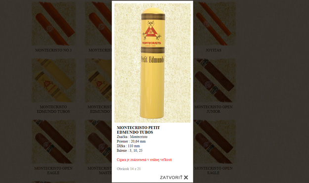 Website of the importer of Cuban cigars