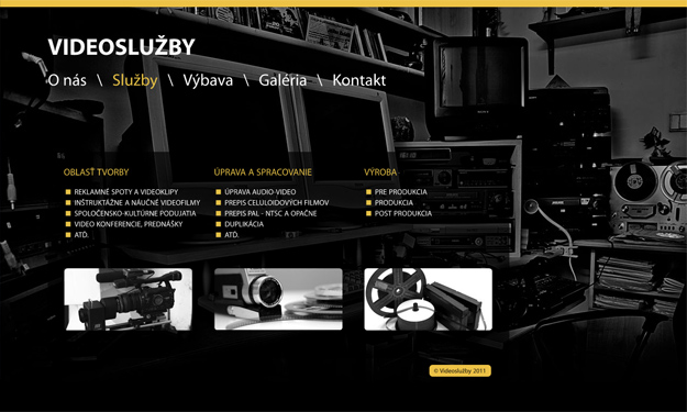Website for video services