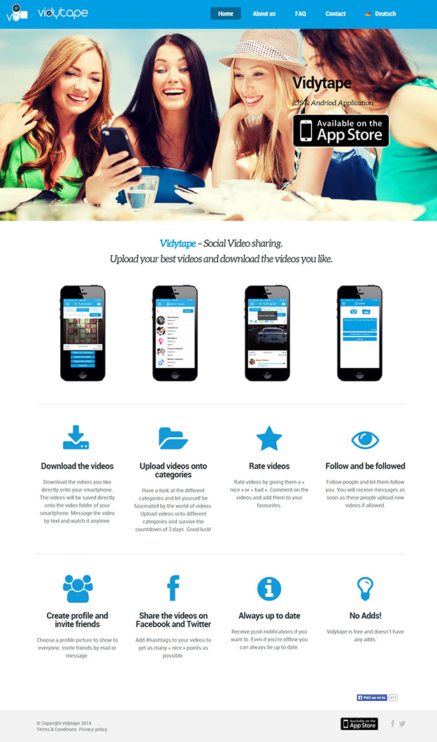 Mobile App Launch Page