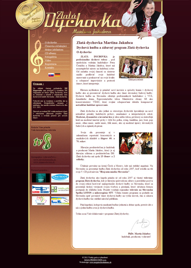 Website Golden Brass